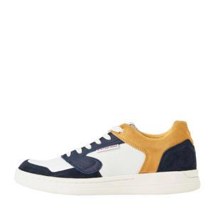 Mimemis Low  suède sneakers wit/blauw/geel