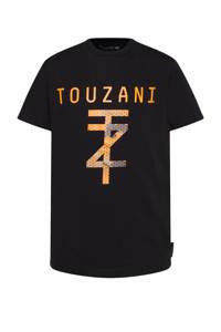 WE Fashion   X Touzani voetbal T-shirt zwart, Zwart
