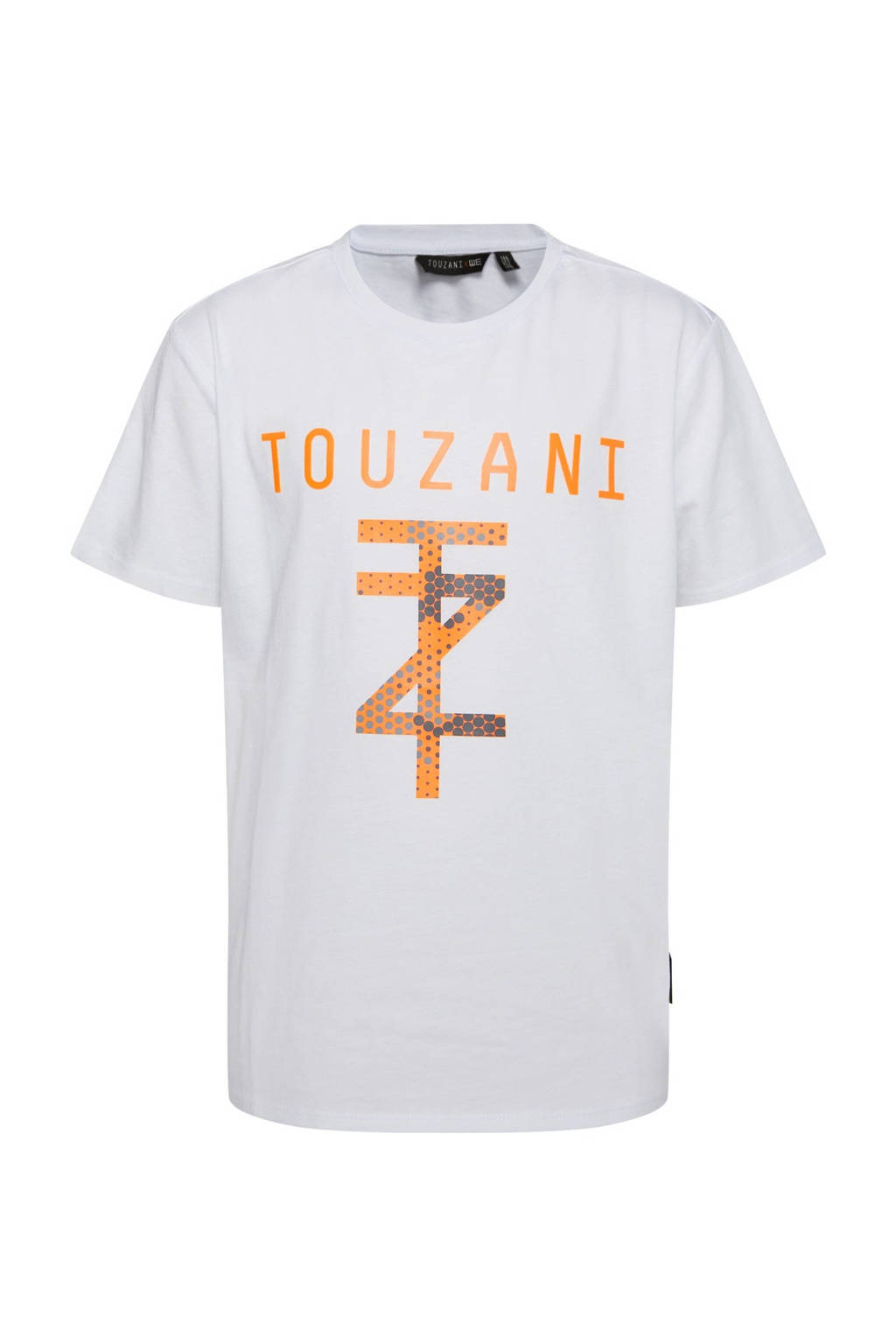 WE Fashion   X Touzani voetbal T-shirt wit, Wit