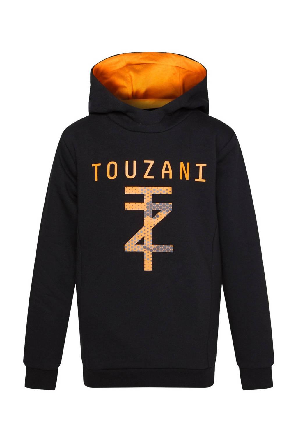 WE Fashion   X Touzani hoodie zwart/oranje, Zwart/oranje