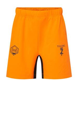 X Touzani voetbalshort oranje/zwart