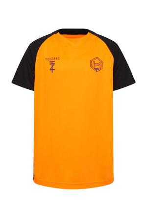 X Touzani voetbal T-shirt oranje/zwart