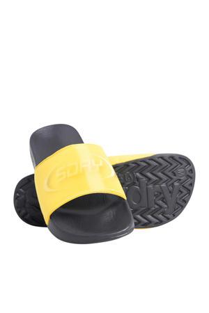 Hologram Pool Slide  badslippers geel/zwart