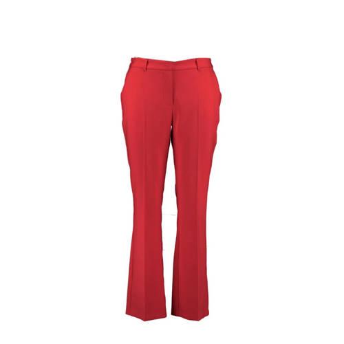 MS Mode slim fit pantalon rood