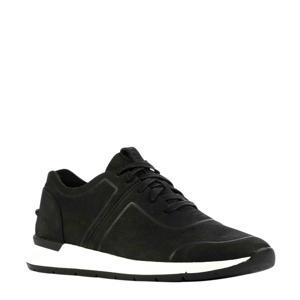 1109539  leren sneakers zwart