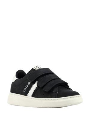 H1272  suède sneakers donkerblauw