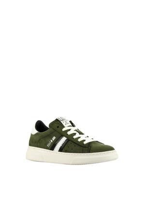 H1272  suède sneakers groen