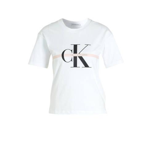 CALVIN KLEIN JEANS T-shirt van biologisch katoen w