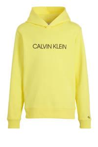 CALVIN KLEIN JEANS hoodie met logo geel, Geel