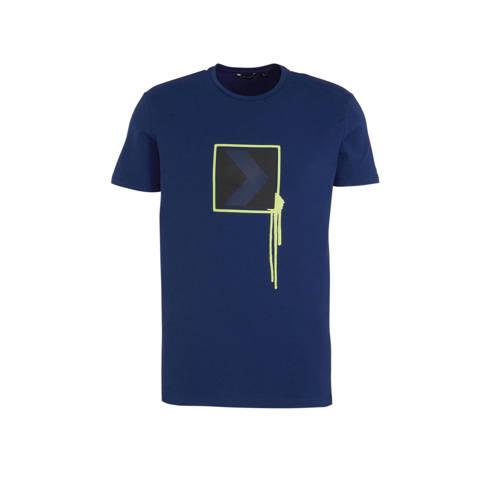 Antony Morato T-shirt met printopdruk donkerblauw