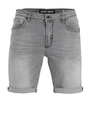 slim fit jeans short Dave grijs