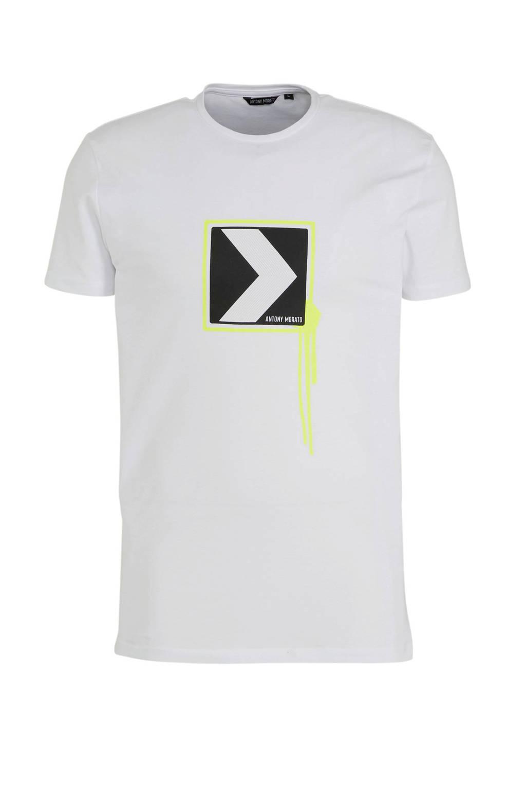 Antony Morato T-shirt met printopdruk wit, Wit