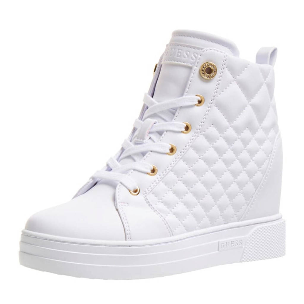 GUESS Fase  wedge sneakers wit, Wit