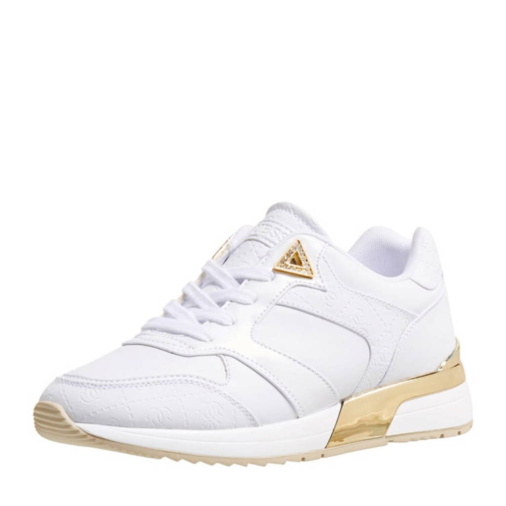 GUESS MOTIV  sneakers wit/goud, Wit/goud