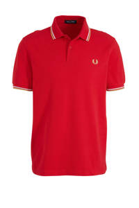 Fred Perry slim fit polo rood, Rood