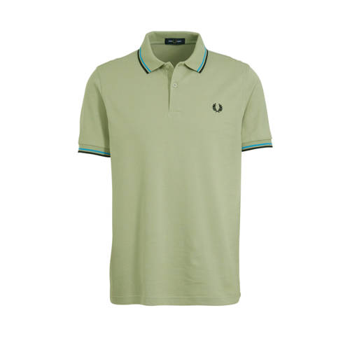 Fred Perry slim fit polo lichtgroen