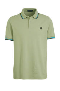 Fred Perry slim fit polo lichtgroen, Lichtgroen