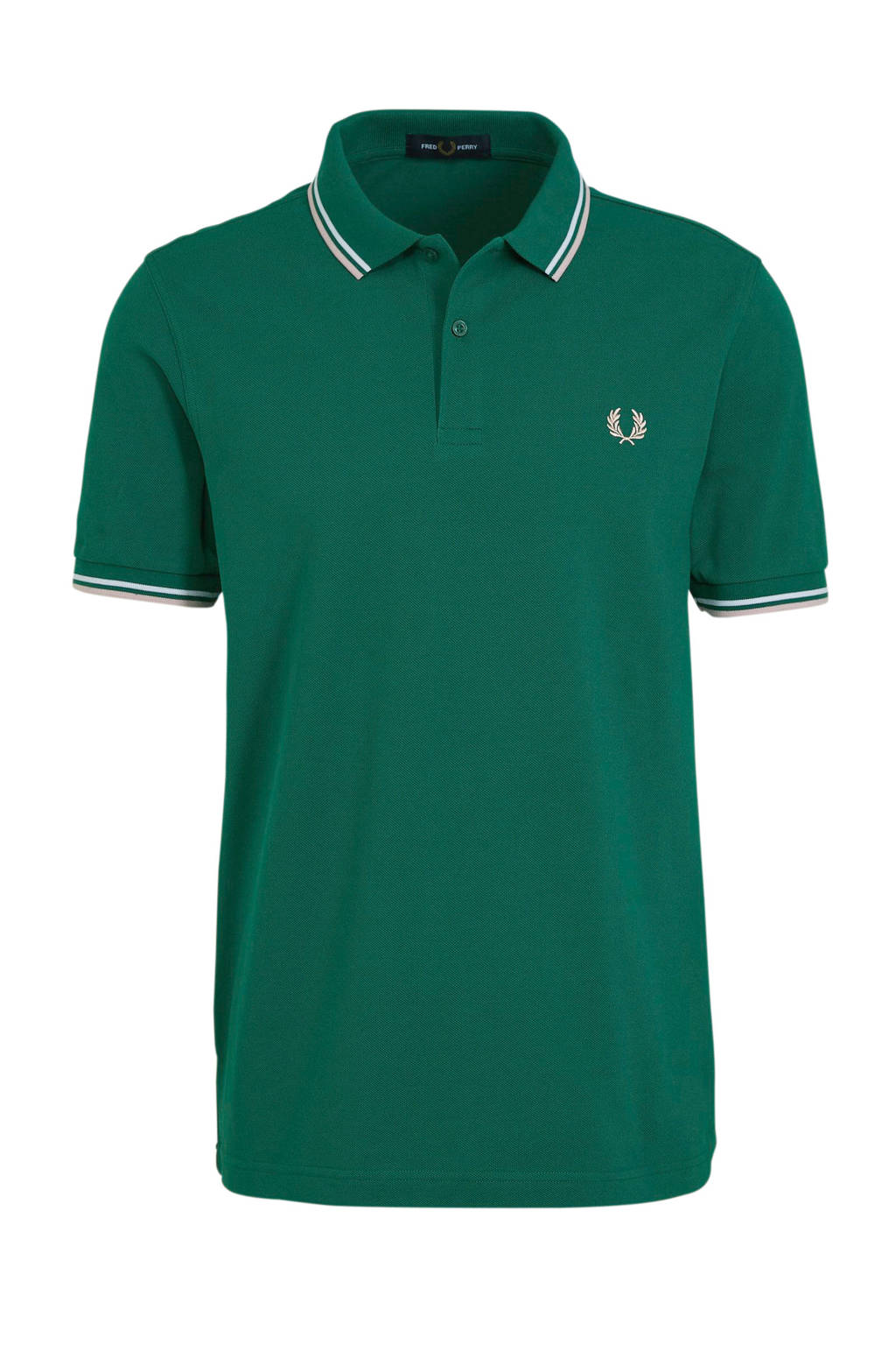 Fred Perry slim fit polo groen, Groen