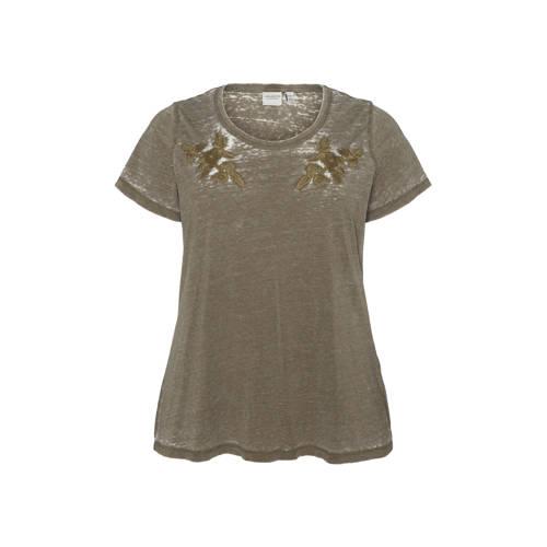 JUNAROSE T-shirt van biologisch katoen groen