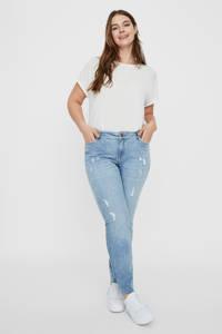 JUNAROSE slim fit jeans blauw, Blauw