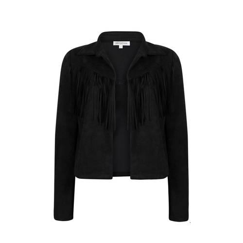 Tramontana jasje met franjes zwart
