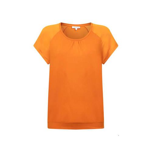 Tramontana top en plooien oranje
