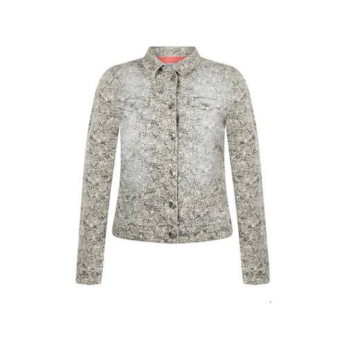 Tramontana jasje met all over print beige/multi