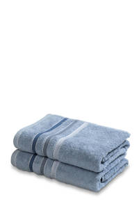 Vandyck handdoek (set van 2) (110 x 60 cm) Blauw