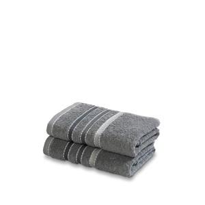 gastendoek (set van 2) (60 x 40 cm) Mole grey