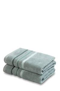 Vandyck handdoek (set van 2) (110x60 cm), vintage groen