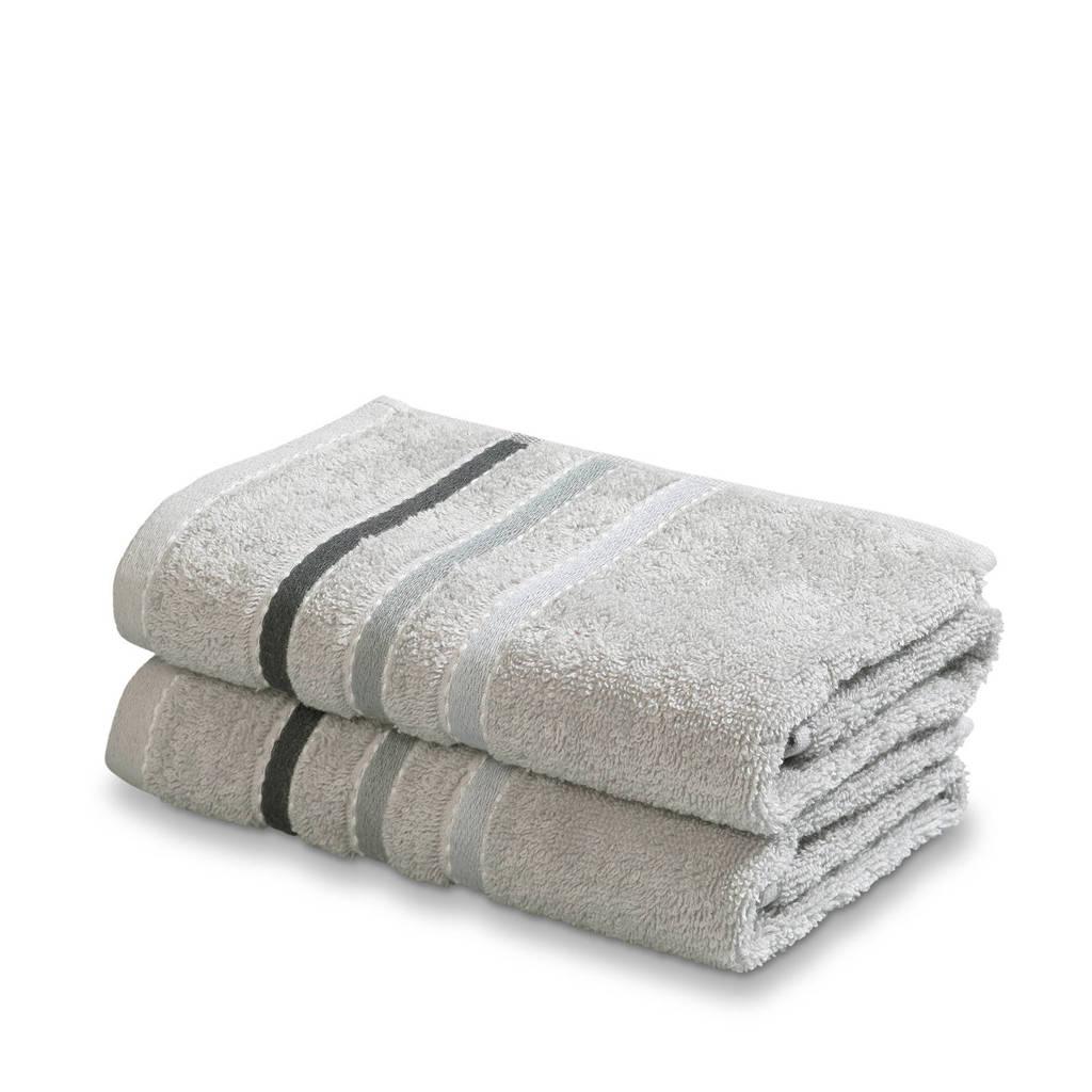 Vandyck handdoek (set van 2) (110 x 60 cm) Steel grey
