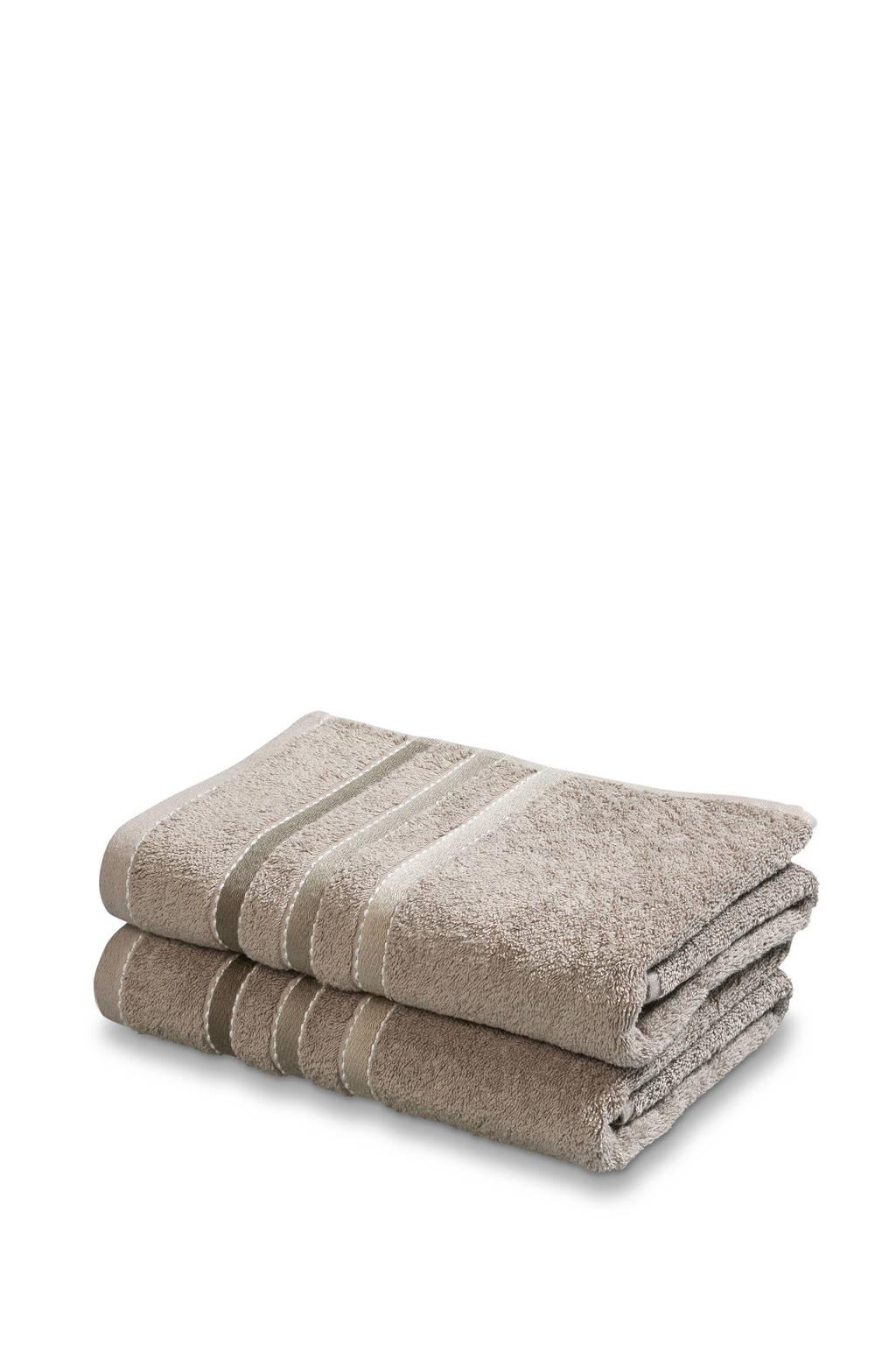 Vandyck handdoek (set van 2) (110 x 60 cm) Bruin