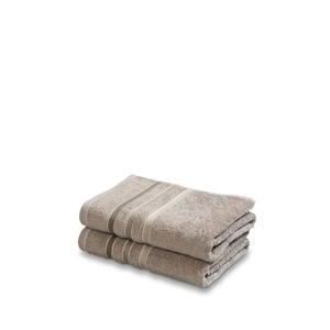handdoek (set van 2) (110 x 60 cm) Bruin