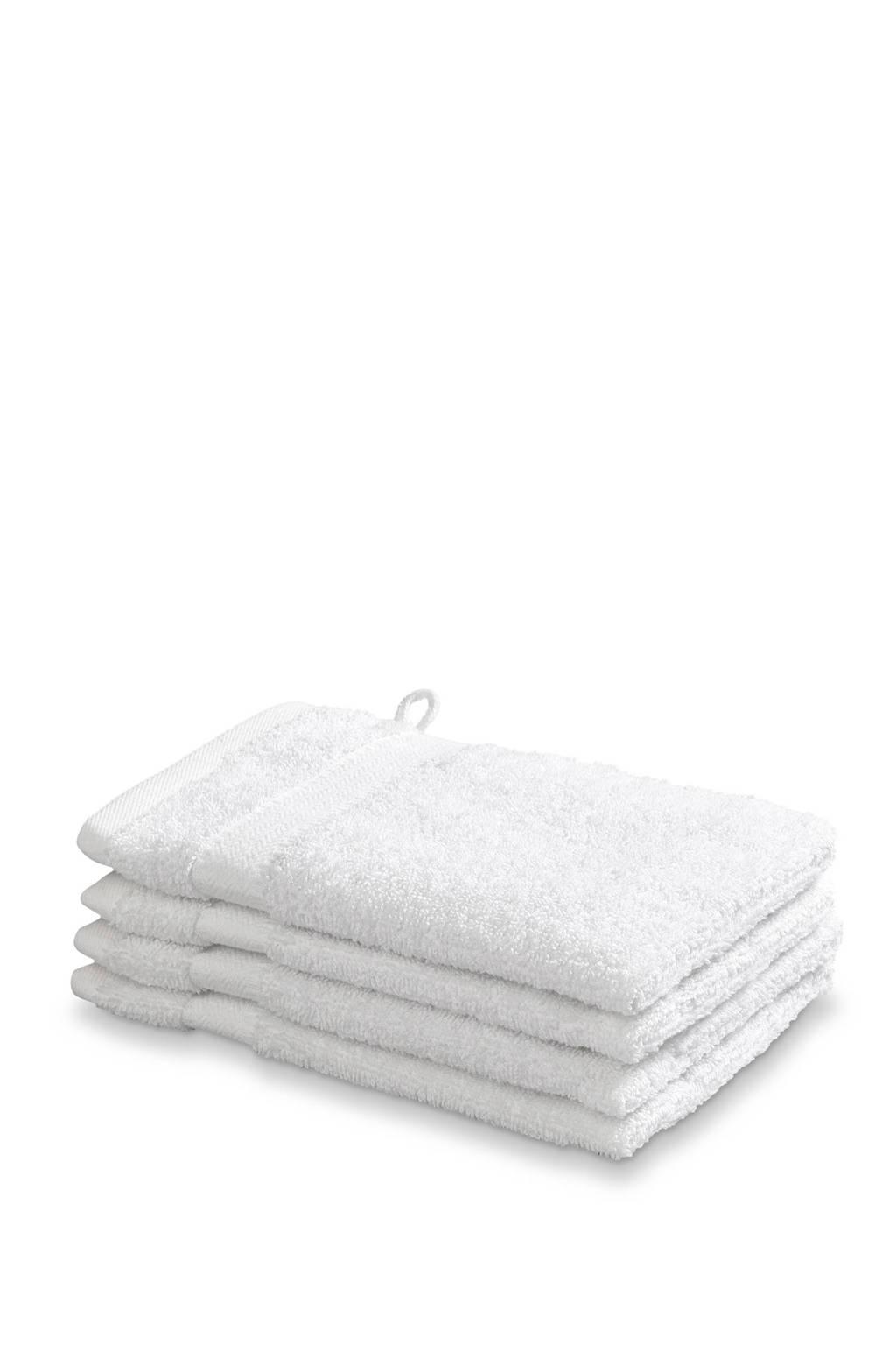 Vandyck washand (set van 4) (16x22 cm) Wit
