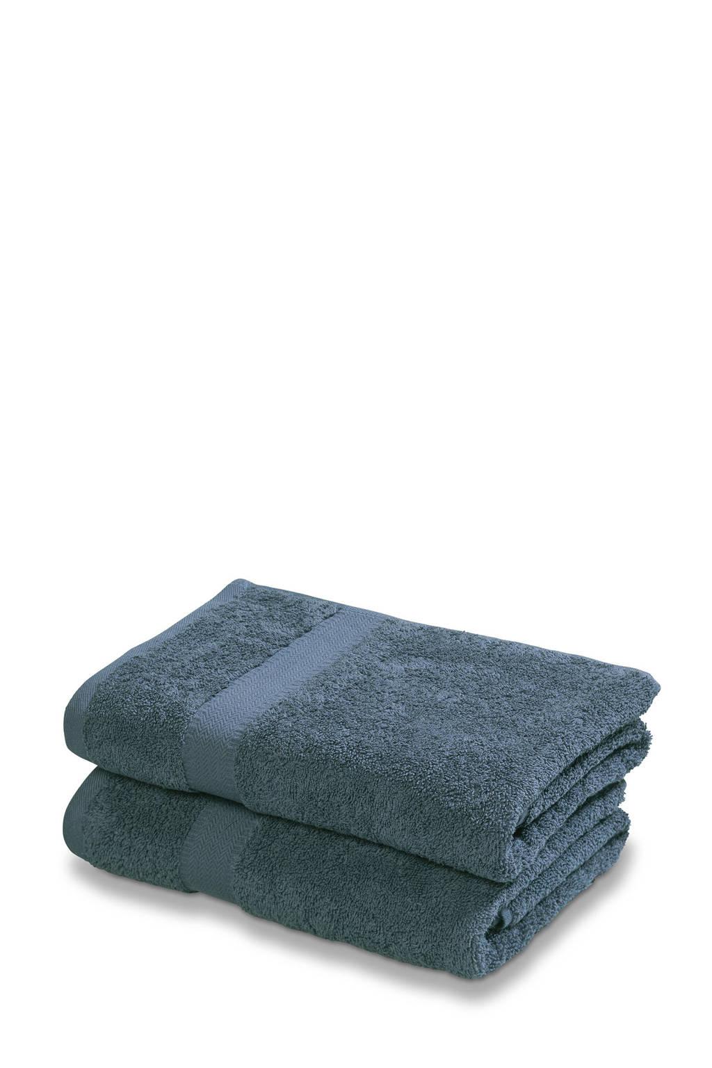 Vandyck handdoek (set van 2) (110 x 60 cm) Dark denim