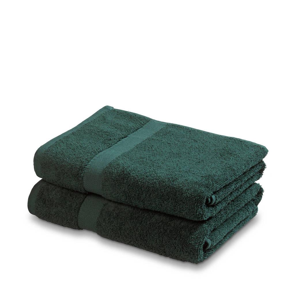 Vandyck handdoek (set van 2) (110 x 60 cm) Donkergroen