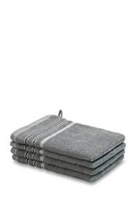 Vandyck washand (set van 4) (16x22 cm) Mole grey, mole grey