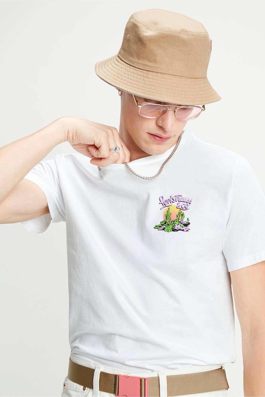 Levi's T-shirt met printopdruk wit, Wit