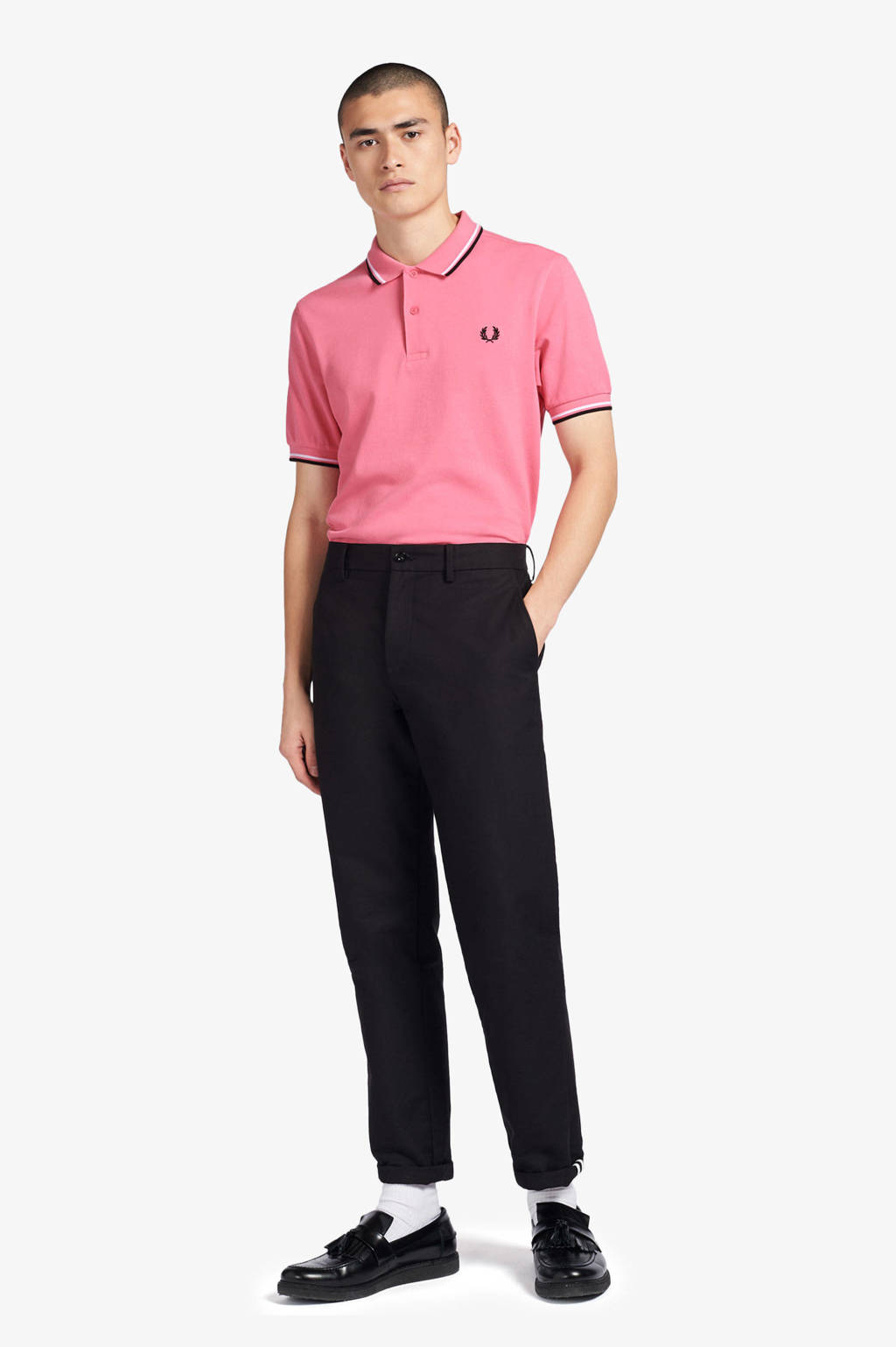 Fred Perry regular fit polo roze, Roze