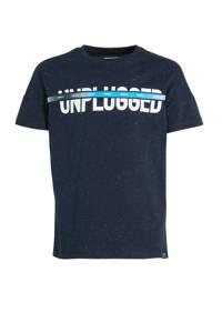 Garcia T-shirt met tekst donkerblauw, Donkerblauw
