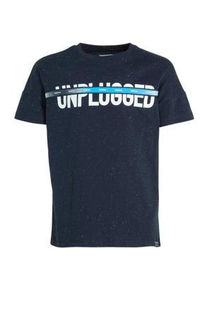 T-shirt met tekst donkerblauw