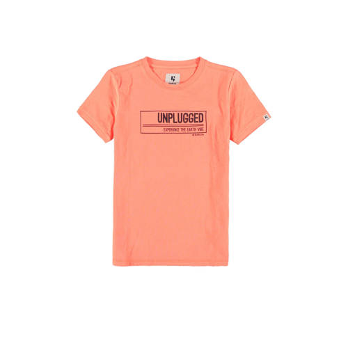 Garcia T-shirt met printopdruk licht oranje