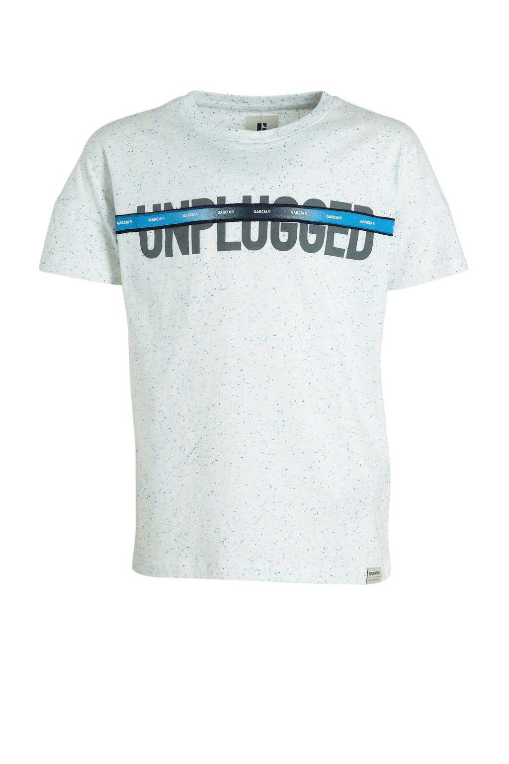 Garcia T-shirt met tekst offwhite, Offwhite