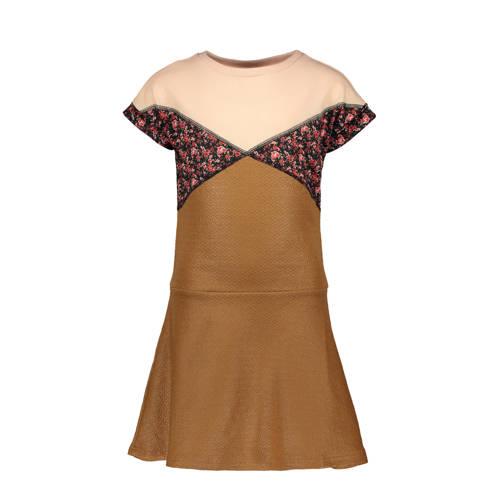 Like Flo A-lijn jurk camel/beige/rood