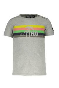 Like Flo baby T-shirt met printopdruk grijs melange/multicolor, Grijs melange/multicolor