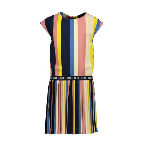 Like Flo gestreepte jurk roze/multicolor