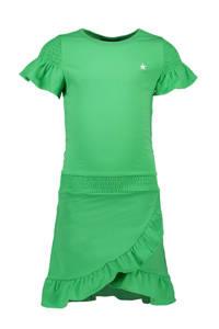 Like Flo jersey jurk en ruches groen, Groen