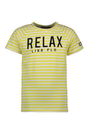 T-shirt met tekst geel/wit