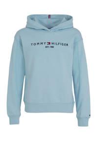 Tommy Hilfiger hoodie met logo lichtblauw, Lichtblauw