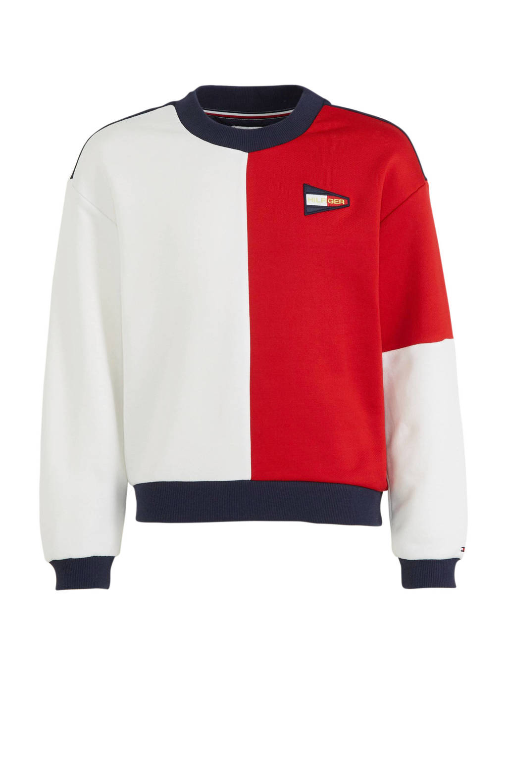 Tommy Hilfiger sweater wit/donkerblauw/rood, Wit/donkerblauw/rood